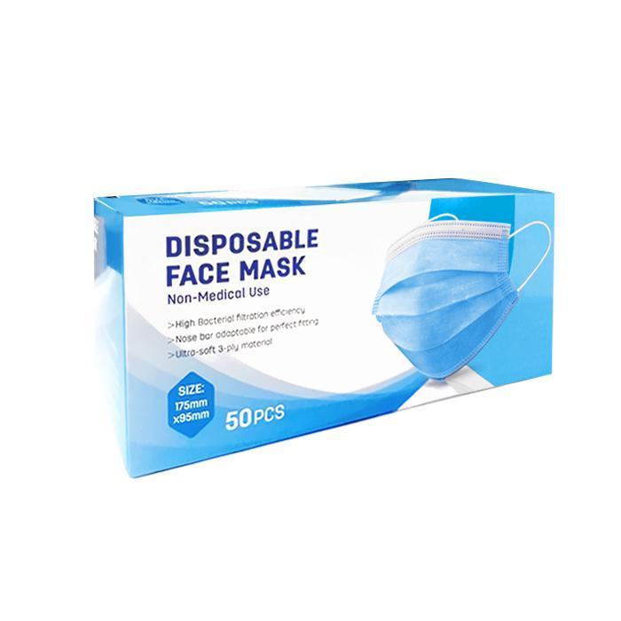 Deli Disposable Face Mask 175 x 95mm 50 Pcs