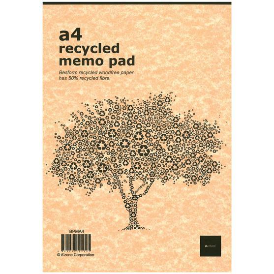 Besform Recycled Memo Pad A4 BPMA4