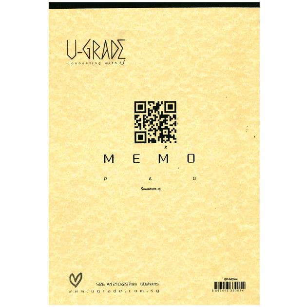 U-Grade Memo Pad A4 GPMOA4