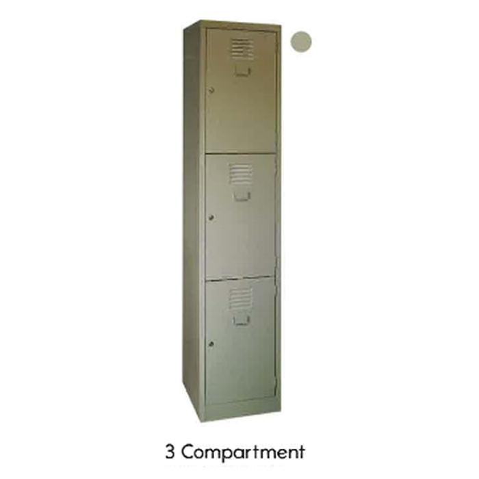 Super 5 Locker 3 Compartments Grey LK-93A