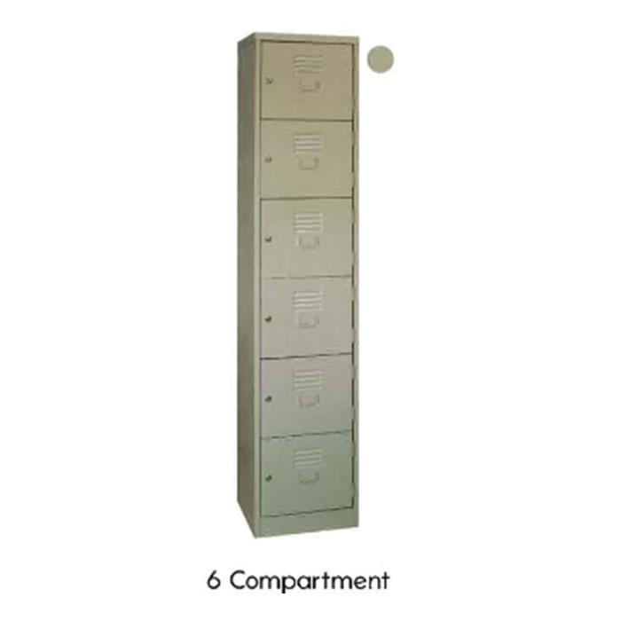 Super 5 Locker 6 Compartments Grey LK-93A