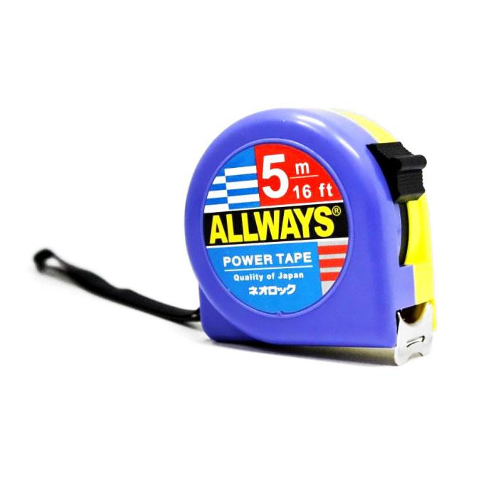 Allways Measuring Tape 25mm x 5M (16 Feet)