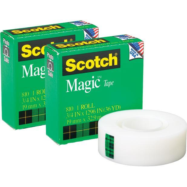 3M 810 Magic Tape 18mm x 32M (3/4 Inch x  36 Yards)