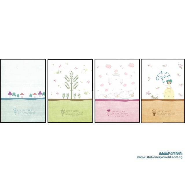 Life is Yours Notebook B5 Pack of 8 R16K48-1029