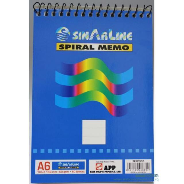 Sinarline Spiral Notebook A6