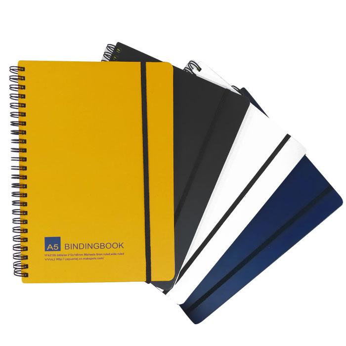 Spiral A5 Note Book with Elastic YFA5-108 96's/192 Pages
