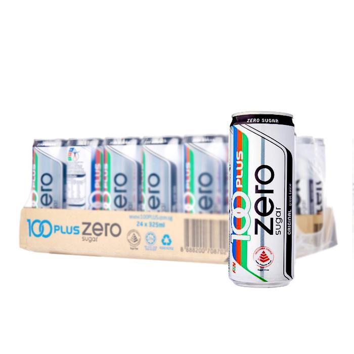 100 Plus Zero 325ml x 24 Cans