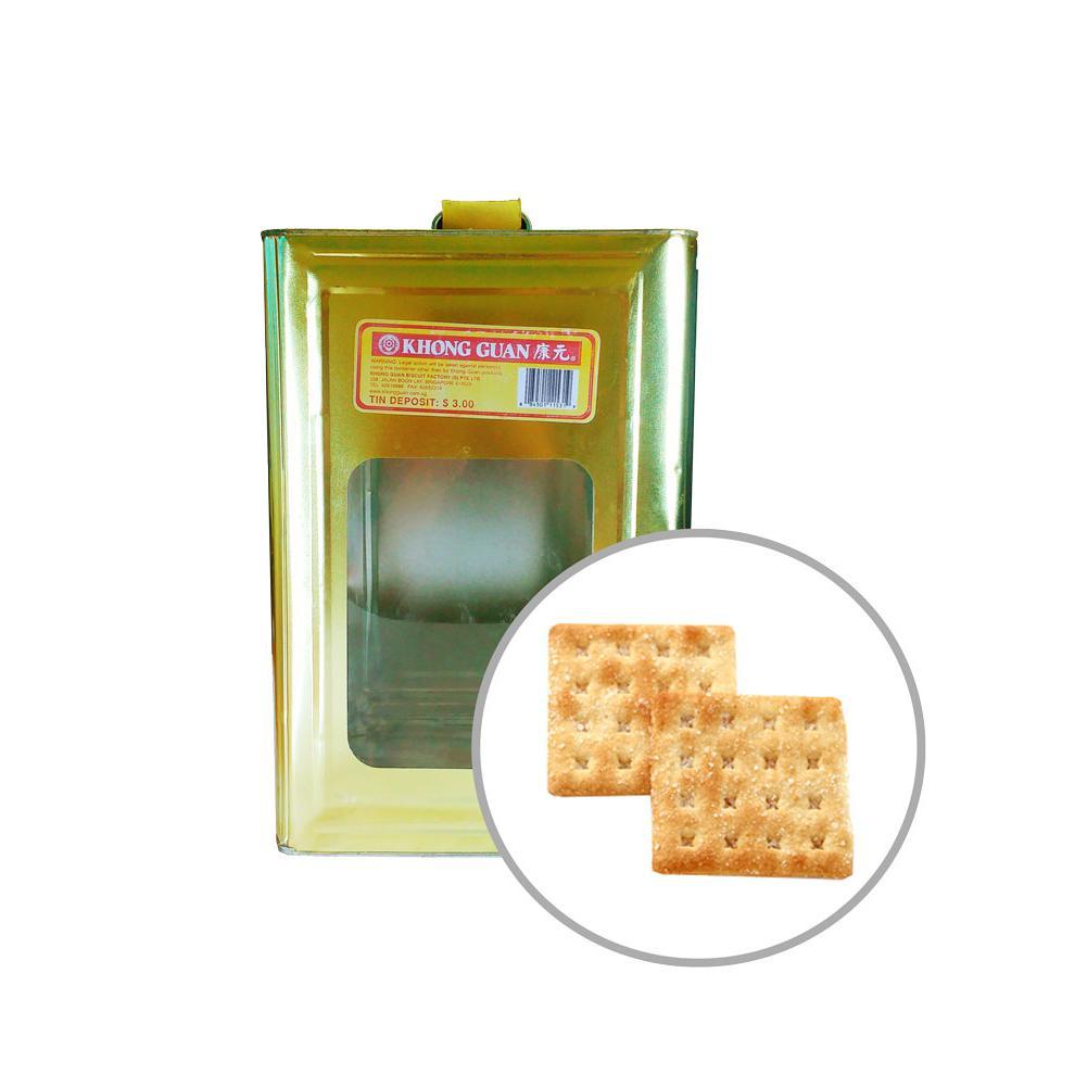 Khong Guan Biscuits Heong Soh Puffs 3.5kg Tin
