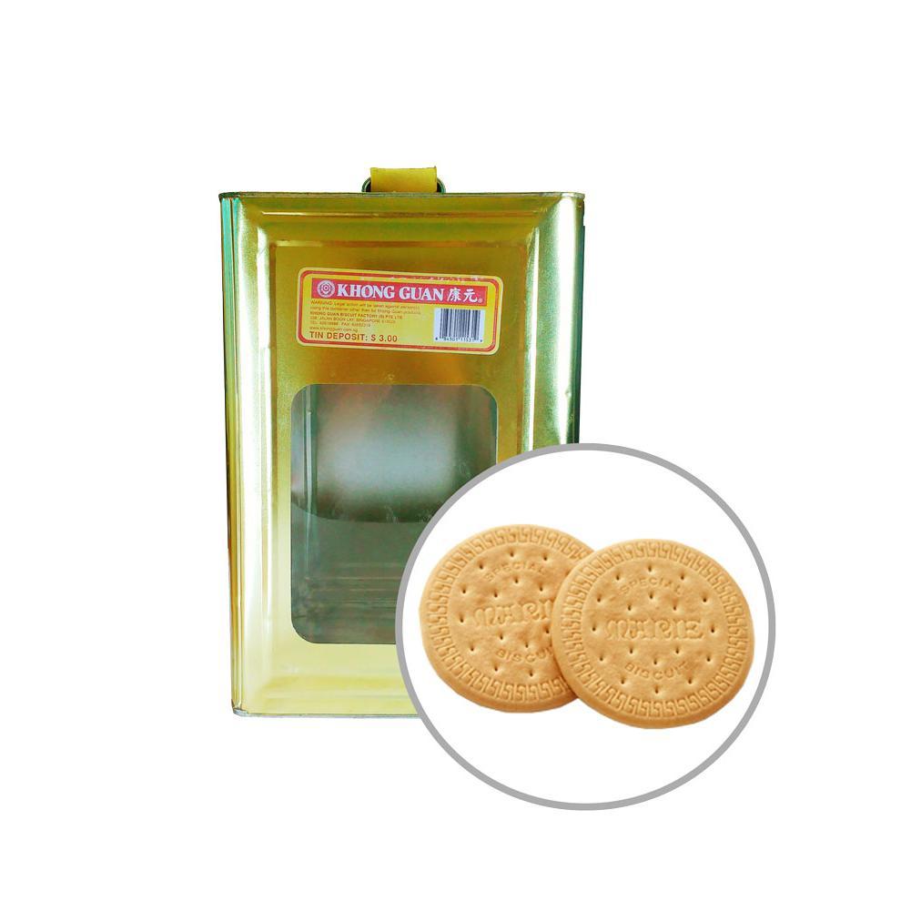 Khong Guan Biscuits Large Marie 4kg Tin