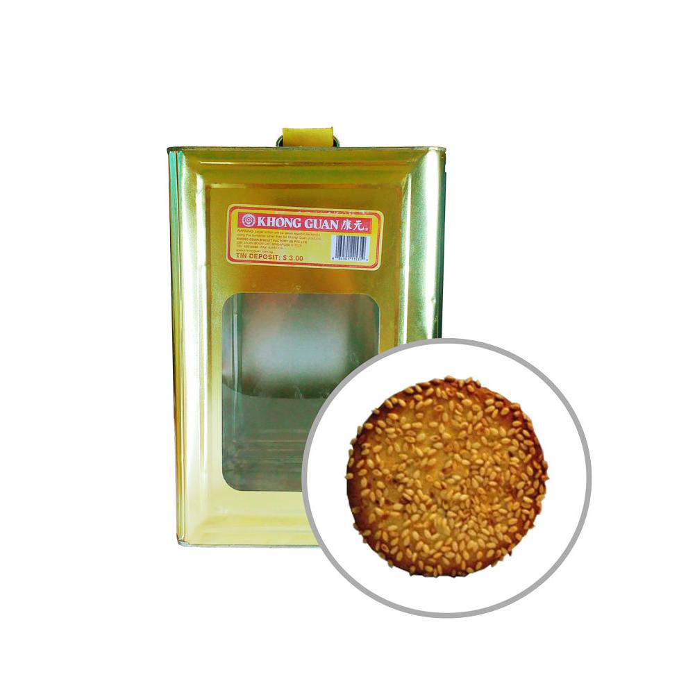 Biscuits Sesame Crackers 3.3kg Tin