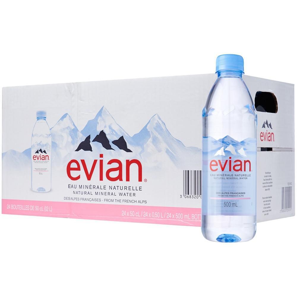 Evian Mineral Water Bottle 500ml x 24