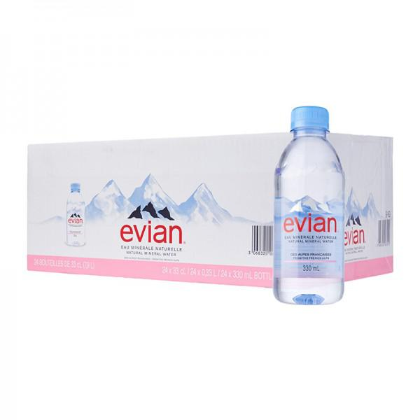 Evian Mineral Water Bottle 330ml x 24