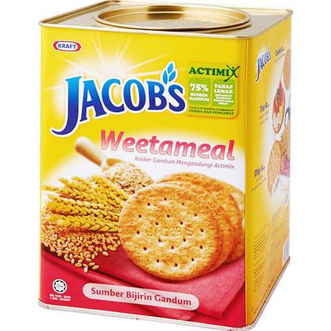 Jacob's Weetameal Wheat Cracker 700g Tin
