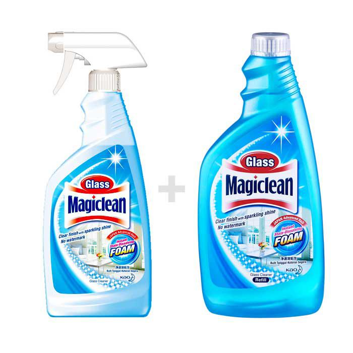 Kao Magiclean Glass Spray and Refill