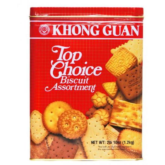 Khong Guan Top Choice Assorted Biscuits 1.2kg