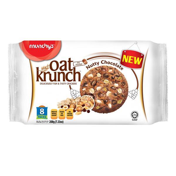 Munchy's Oat Krunch Nutty Chocolate 208g