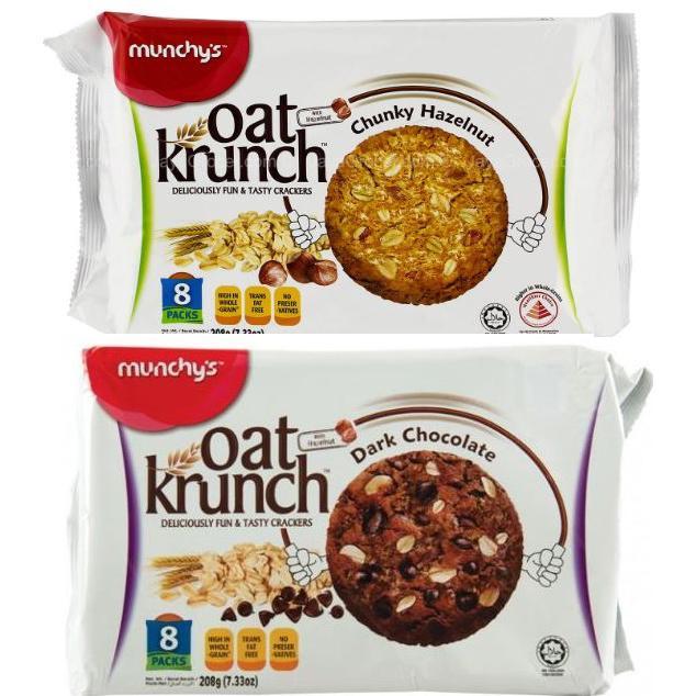 Munchy's Oat Krunch Chunky Hazelnut Dark Chocolate 208g