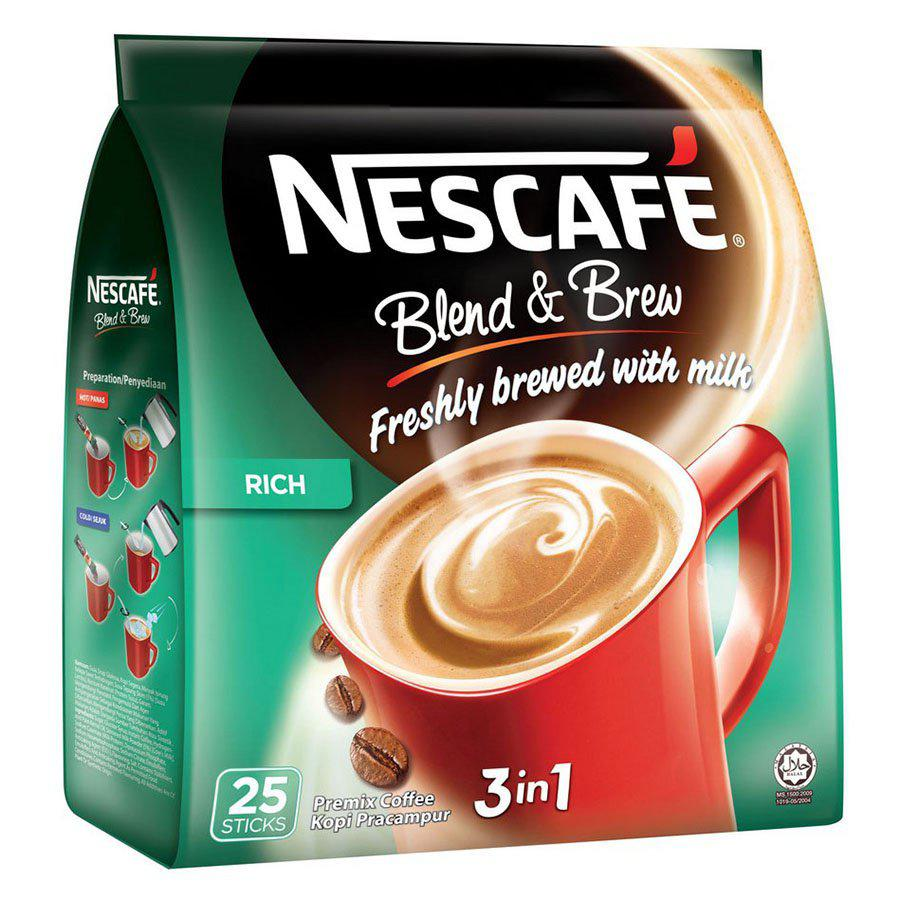 Nescafe 3 in 1 Blend and Brew Rich Coffee