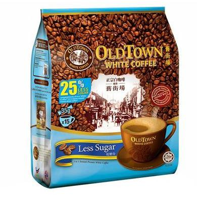 Old Town 3 in 1 Instant White Coffee Less Sugar
