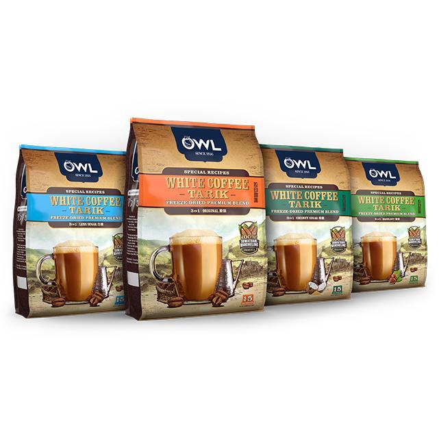 OWL 3 in 1 Instant White Coffee Tarik