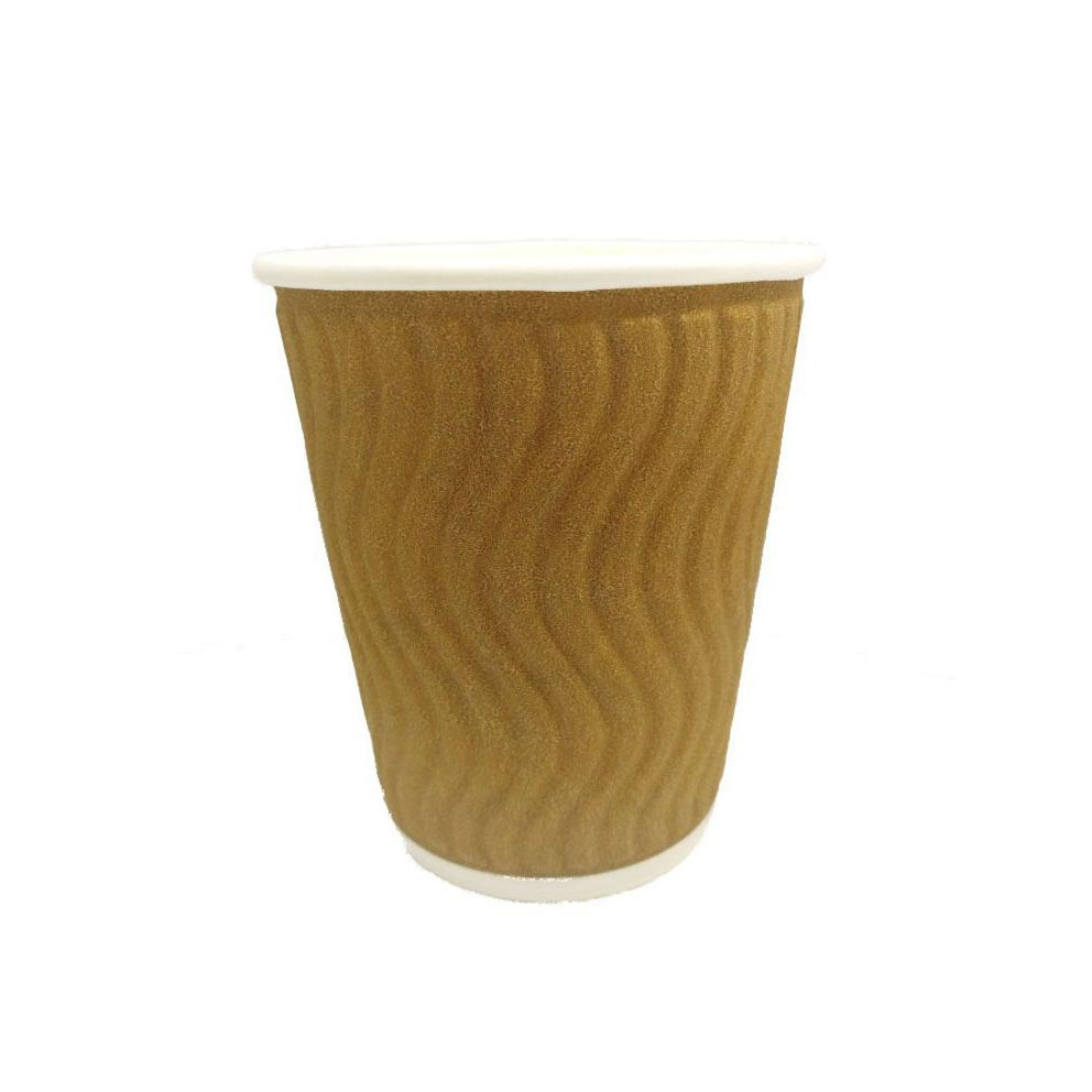 Disposable Paper Hot Cup Wave Brown 8oz Pack of 25