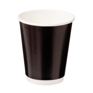 Uni Double Wall Paper Hot Cup Black 8oz Pack of 40