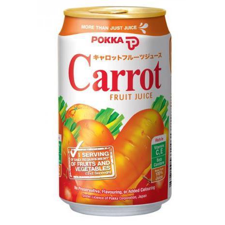 POKKA Carrot Fruit Juice Can Drink 300ml x 24