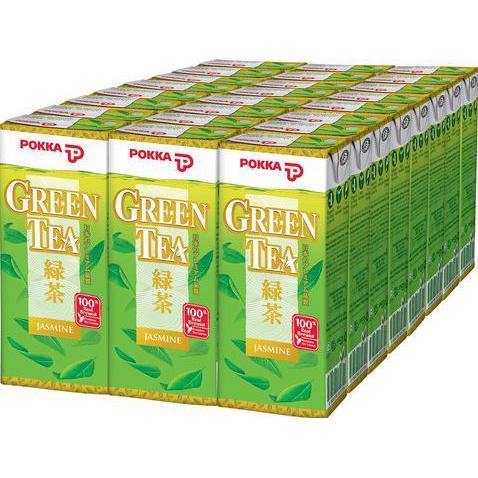 POKKA Green Tea Packets 250ml x 24