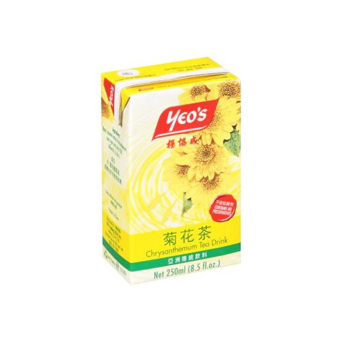 Yeo's Chrysanthemum Tea Packet Drink 250ml x 24