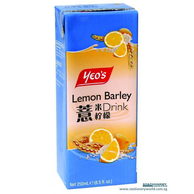 Yeo's Lemon Barley Packet Drink 250ml x 24