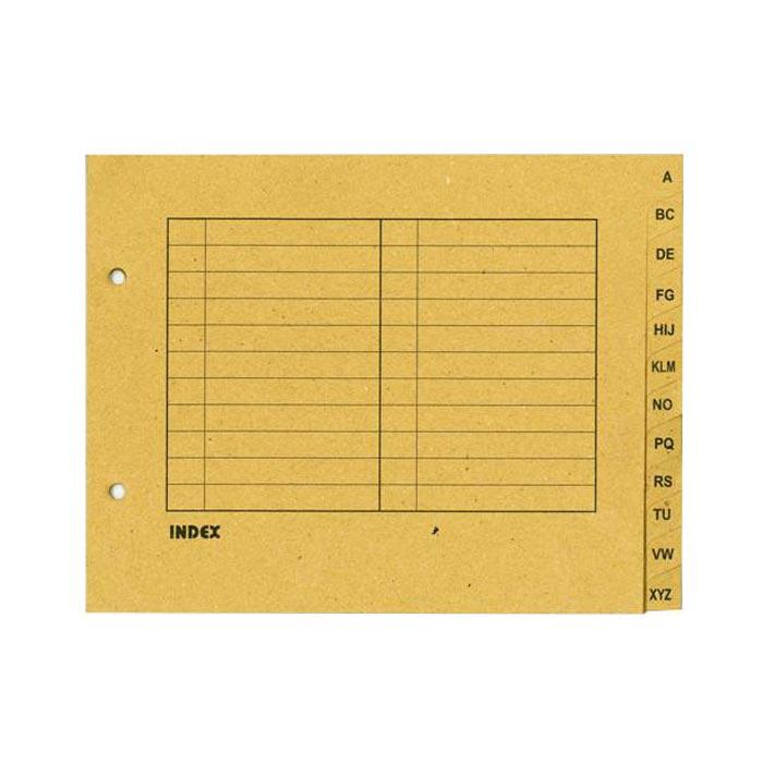 Arch File Index Divider Brown
