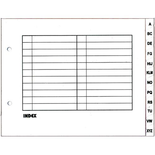 Arch File Index Divider White