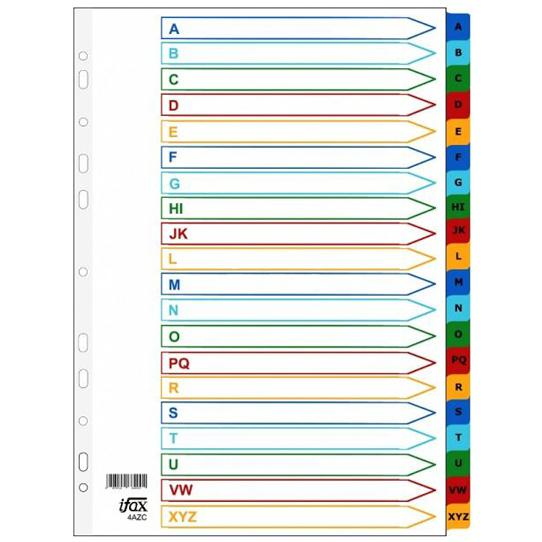 iFax Mylar Colour Divider 4AZ-P (A to Z)