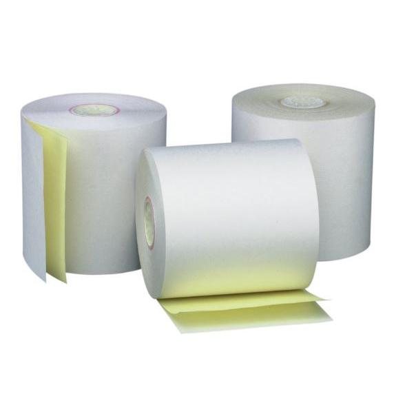 NCR 2 Ply Paper Roll White Yellow 76 x 70 x 12 to 13.5mm
