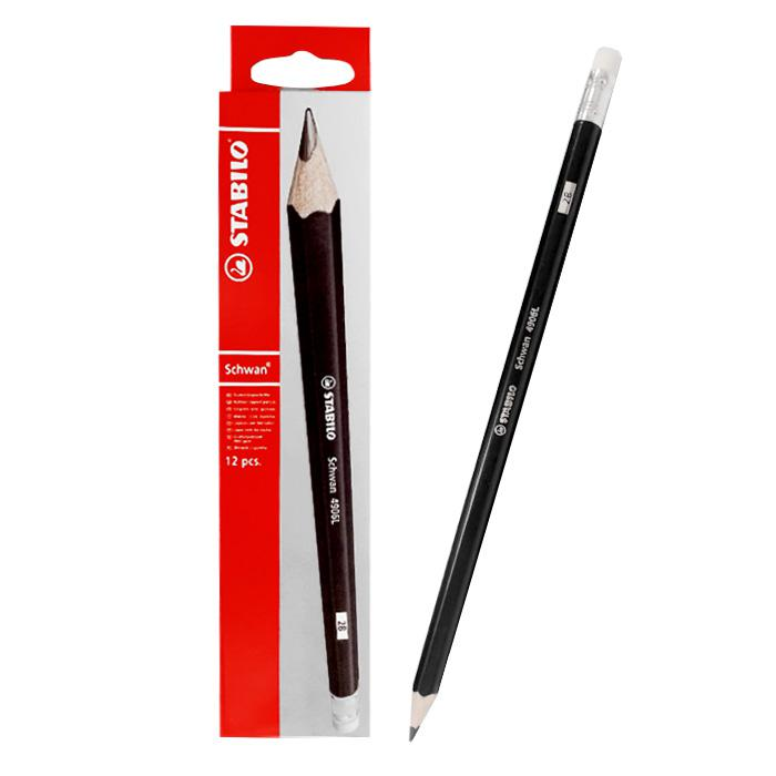 STABILO Swano Black Lead 2B Pencil 4906L