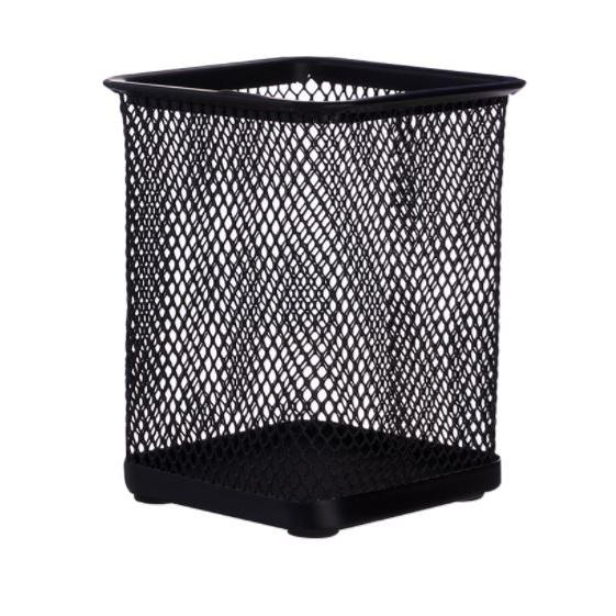 Deli Square Mesh Pen Stand Holder E9174