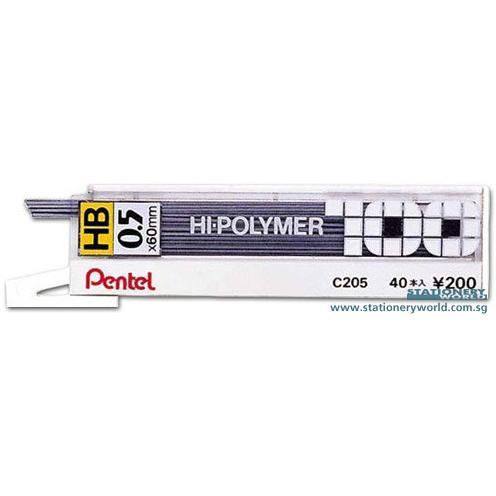Pentel Hipolymer Pencil Lead HB 0.5mm C205/C255