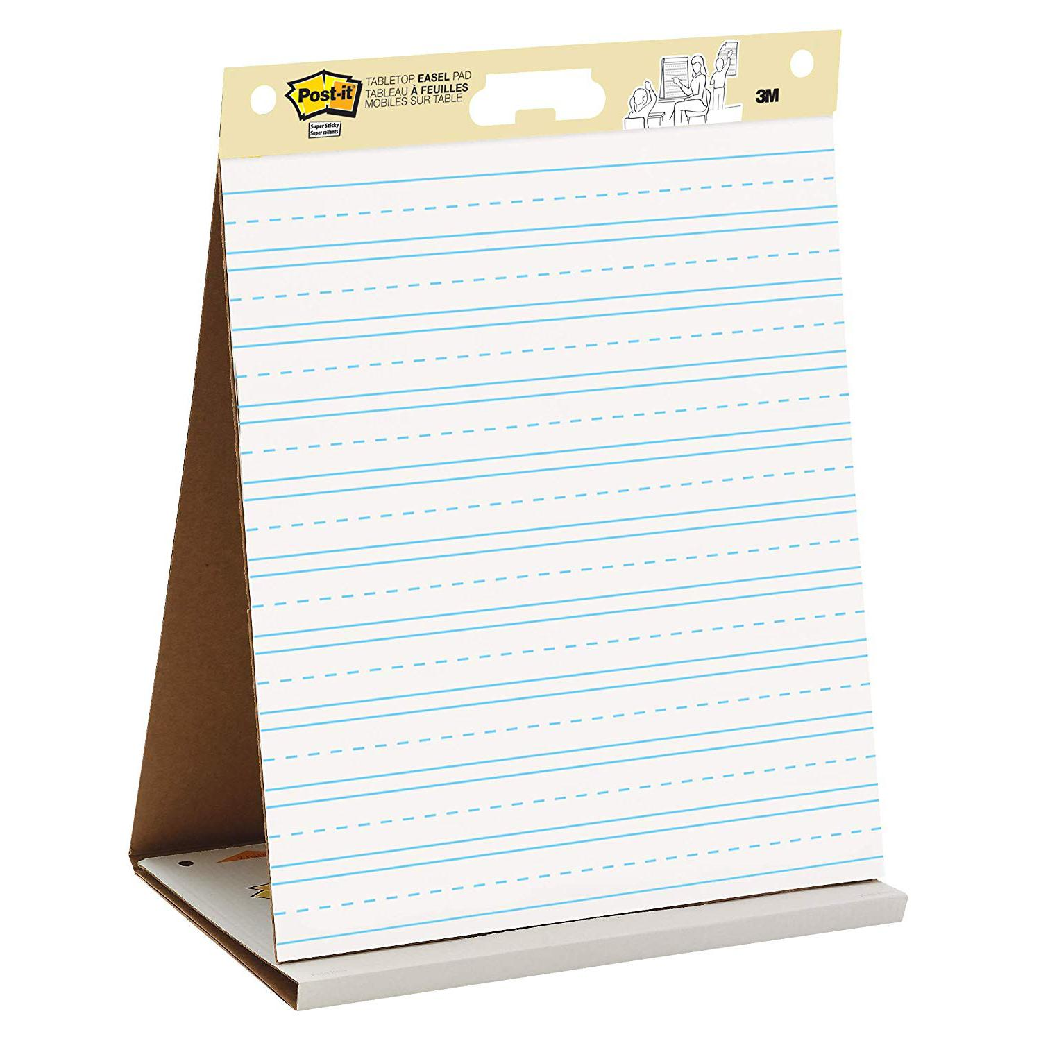 3M Post-It Table Top Easel Pad Primary Lined 20 x 23 Inches 563PRL