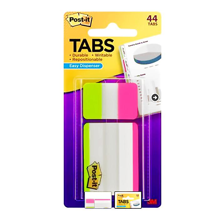 3M Post-it Tabs 686-44LPLP-OTG