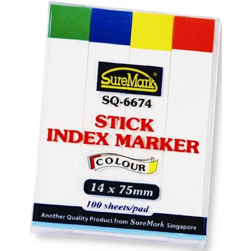Suremark Stick Paper Index Marker 14 x 75mm SQ-6674