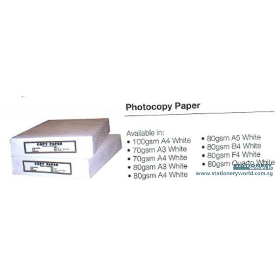 Photocopy Paper Quarto White 80gsm