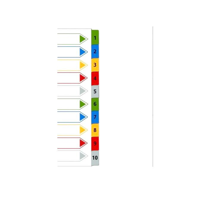iFax PP Colour Index Divider 4110-C (1 to 10)