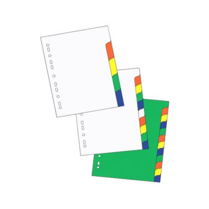 Suremark 10 Colour PP Index Divider SQ-7010