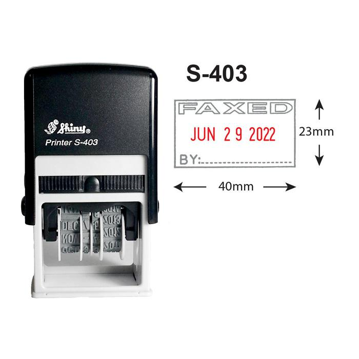Shiny Self Inking Date Stamp Faxed S403
