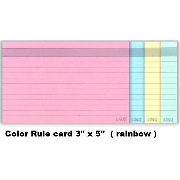 Colour Index Card Line Ruled 3 x 5 Inch CA-CC35/BCCR53/CA-RC35