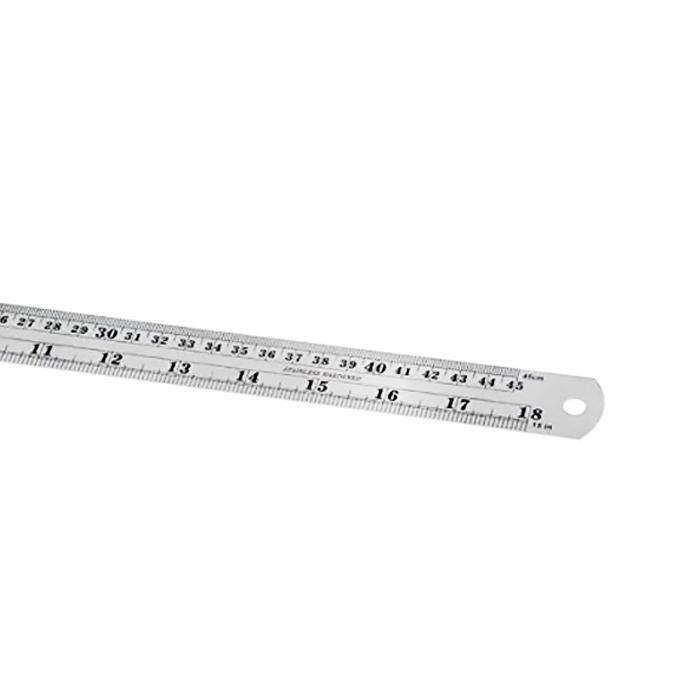 Steel Metal Ruler 18 Inch