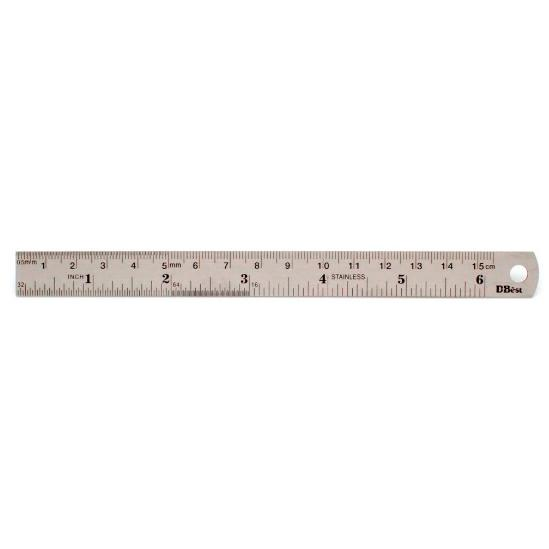 Steel Metal Ruler 6 Inch