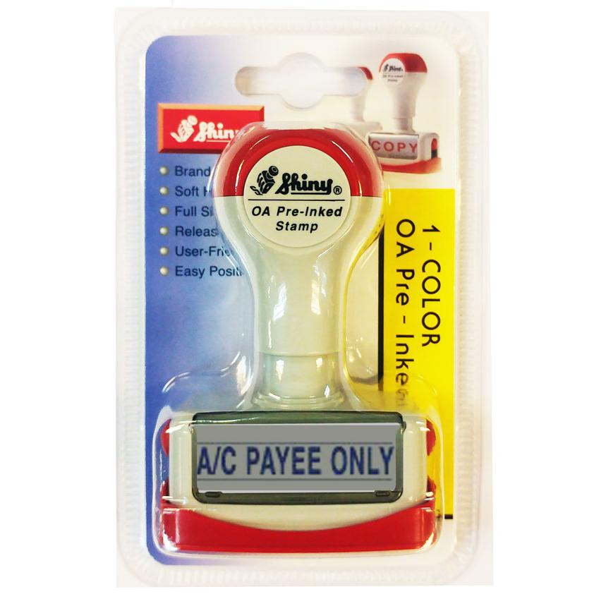 Shiny OA Pre Inked Stamp A/C Payee Only NA08