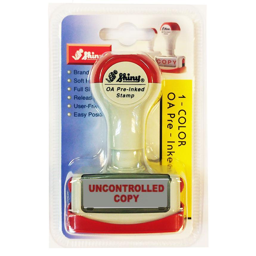 Shiny OA Pre Inked Stamp Uncontrolled Copy NU04