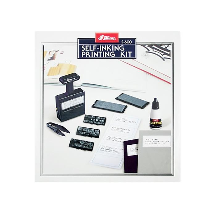 Shiny Self Inking Stamp Kit S-600